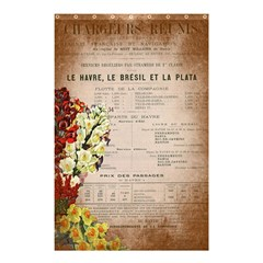 Letter Floral Shower Curtain 48  X 72  (small)  by vintage2030