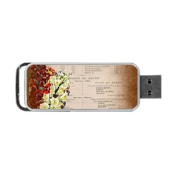Letter Floral Portable Usb Flash (two Sides) by vintage2030