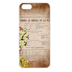 Letter Floral Apple Iphone 5 Seamless Case (white) by vintage2030