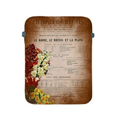 Letter Floral Apple Ipad 2/3/4 Protective Soft Cases by vintage2030