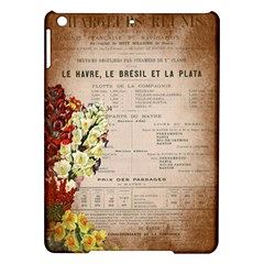 Letter Floral Ipad Air Hardshell Cases by vintage2030