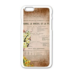 Letter Floral Apple Iphone 6/6s White Enamel Case by vintage2030