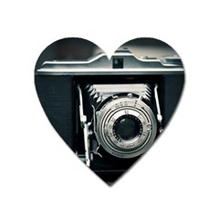 Photo Camera Heart Magnet by vintage2030