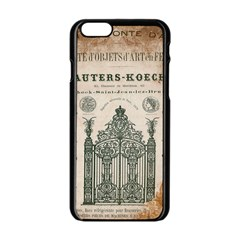 Building News Apple Iphone 6/6s Black Enamel Case by vintage2030
