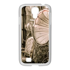 Flea Market Redord Player Samsung Galaxy S4 I9500/ I9505 Case (white) by vintage2030
