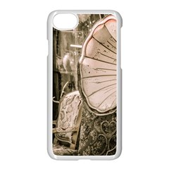 Flea Market Redord Player Apple Iphone 8 Seamless Case (white) by vintage2030