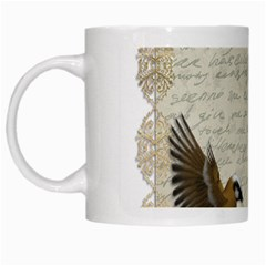 Tag Bird White Mugs