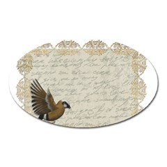 Tag Bird Oval Magnet