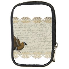 Tag Bird Compact Camera Leather Case by vintage2030