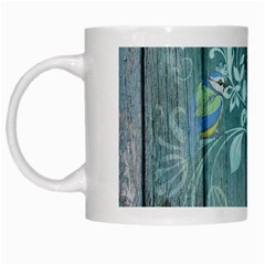 Green Tree White Mugs by vintage2030