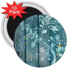Green Tree 3  Magnets (10 Pack)  by vintage2030