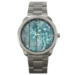 Green Tree Sport Metal Watch by vintage2030