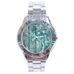 Green Tree Stainless Steel Analogue Watch by vintage2030