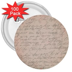 Letter 3  Buttons (100 Pack)  by vintage2030