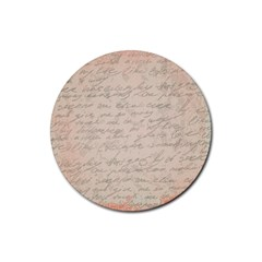 Letter Rubber Coaster (round)