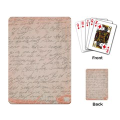 Letter Playing Card