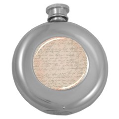 Letter Round Hip Flask (5 Oz)