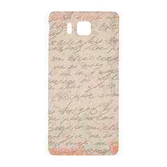 Letter Samsung Galaxy Alpha Hardshell Back Case by vintage2030