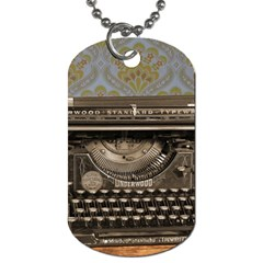 Typewriter Dog Tag (two Sides) by vintage2030