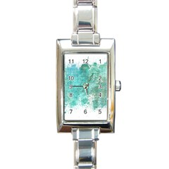 Splash Teal Rectangle Italian Charm Watch by vintage2030
