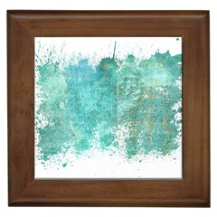 Splash Teal Framed Tiles by vintage2030