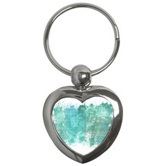 Splash Teal Key Chains (heart)  by vintage2030