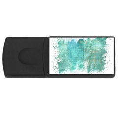 Splash Teal Rectangular Usb Flash Drive by vintage2030