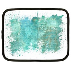 Splash Teal Netbook Case (large) by vintage2030