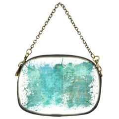 Splash Teal Chain Purse (two Sides) by vintage2030