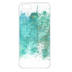 Splash Teal Apple Iphone 5 Seamless Case (white) by vintage2030