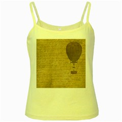 Letter Balloon Yellow Spaghetti Tank by vintage2030