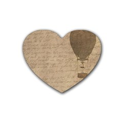 Letter Balloon Heart Coaster (4 Pack)  by vintage2030