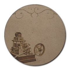 Camera Old Round Mousepads by vintage2030