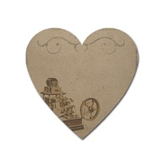 Camera Old Heart Magnet by vintage2030