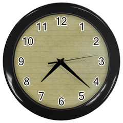 Old Letter Wall Clock (black) by vintage2030