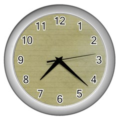 Old Letter Wall Clock (silver) by vintage2030