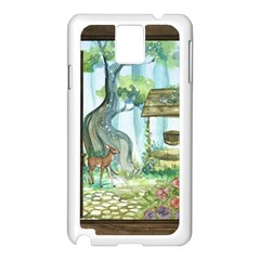 Town 1660349 1280 Samsung Galaxy Note 3 N9005 Case (white) by vintage2030