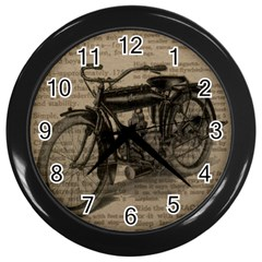 Bicycle Letter Wall Clock (black) by vintage2030