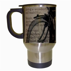 Bicycle Letter Travel Mugs (white) by vintage2030