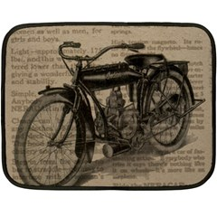 Bicycle Letter Double Sided Fleece Blanket (mini)  by vintage2030