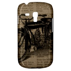 Bicycle Letter Samsung Galaxy S3 Mini I8190 Hardshell Case by vintage2030