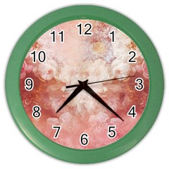 Floral 2555372 960 720 Color Wall Clock by vintage2030