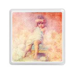 Baby In Clouds Memory Card Reader (square) by vintage2030