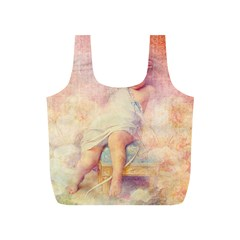 Baby In Clouds Full Print Recycle Bag (s) by vintage2030
