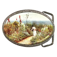 Lady And Scenery Belt Buckles by vintage2030