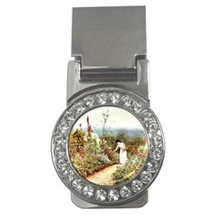 Lady And Scenery Money Clips (cz)  by vintage2030