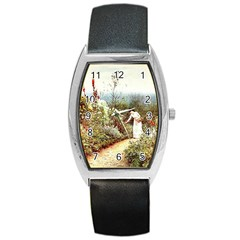 Lady And Scenery Barrel Style Metal Watch by vintage2030