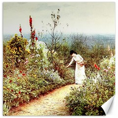 Lady And Scenery Canvas 16  X 16  by vintage2030
