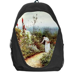Lady And Scenery Backpack Bag by vintage2030