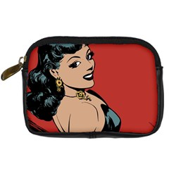 Comic Girl Digital Camera Leather Case by vintage2030